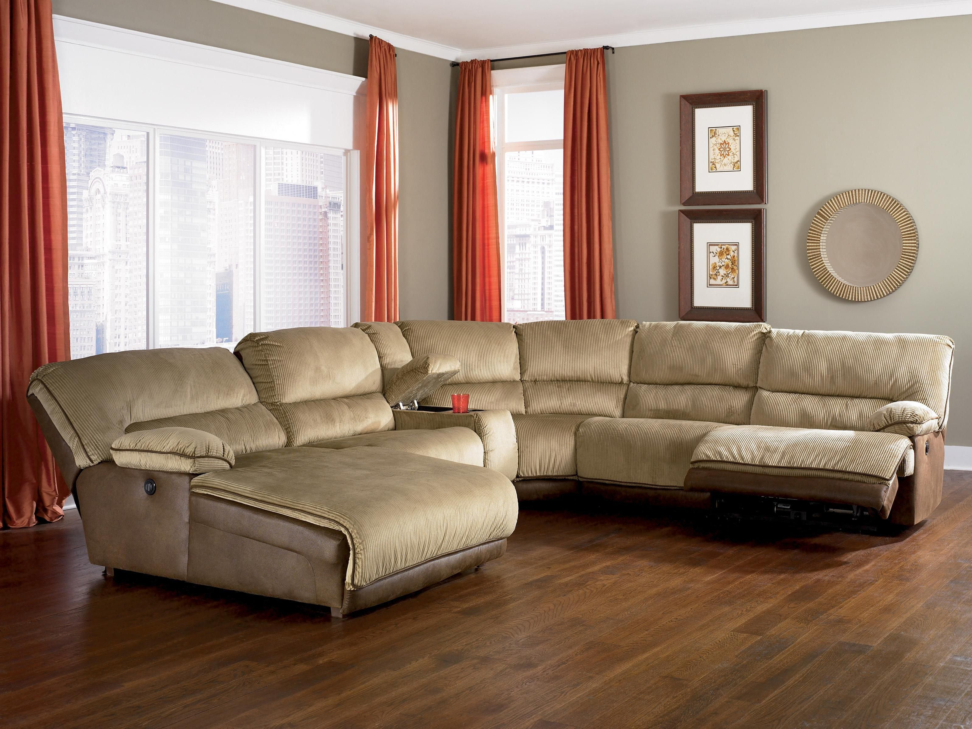 Comfortable Look Of Reclining Sectional With Chaise For