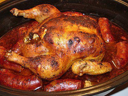 Poulet r ti au four la portugaise avec pur e l ail - Cuisiner un poulet roti ...