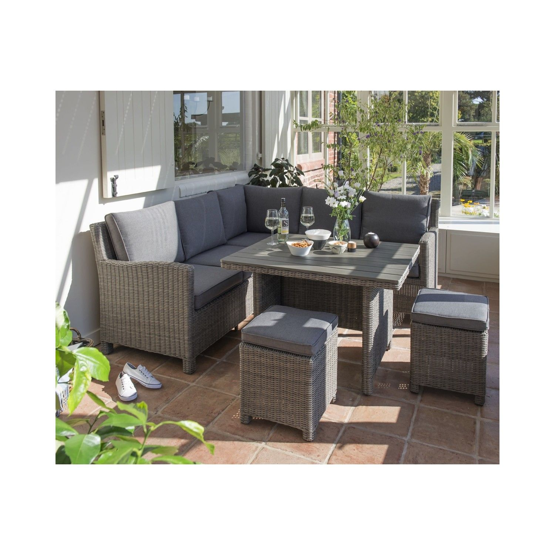 kettler palma mini corner set rattan garden furniture casual dining