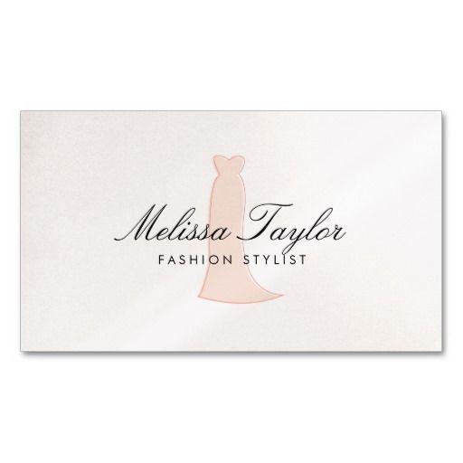 pink dress sketch iii fashion stylist boutique business card