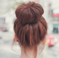 Often wear my hair like this on bad hair days for instant cuteness burst ^^ Odango or high buns are just great!  http://bubble-tea.tumblr.com