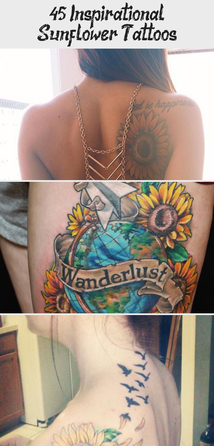 Photo of sunflower tattoo – 45 Inspirational Sunflower Tattoos #sunflowertattoosWithName …