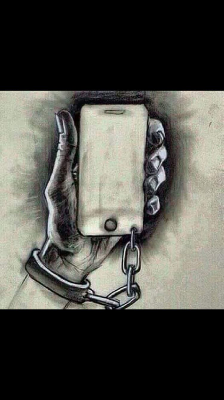 When you realize that this is so true and you want to stop yourself but society tells you its okay because technology is becoming our world