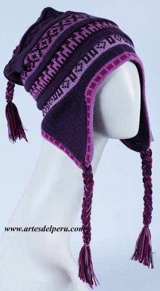 chullo hat de alpaca  c76bb3d810f