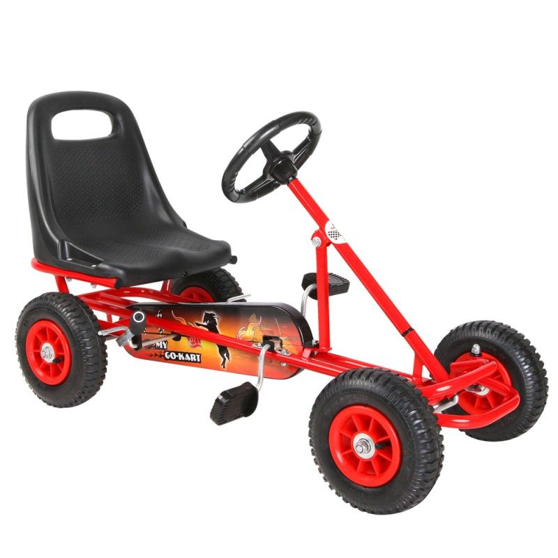 Kids Pedal Powered Racing Go Kart Red | Home Decor & Gifts ...
