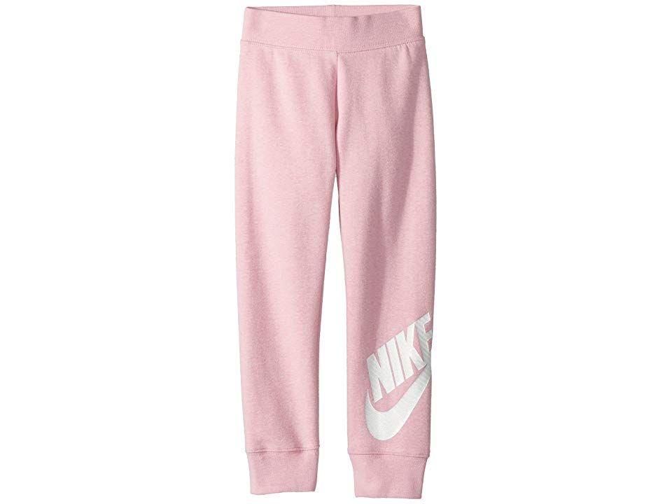 217687adcd Nike Kids Sportswear Futura Fleece Jogger (Little Kids) (Pink Heather)  Girl's Casual Pants. Give her basics a boost with some sweet Nike Kids  Sportswear ...