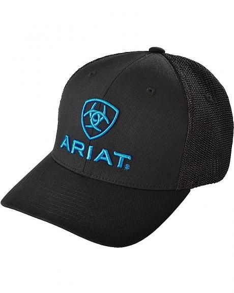 6d0fe98ddb8 Ariat Blue Logo Embroidered Cap