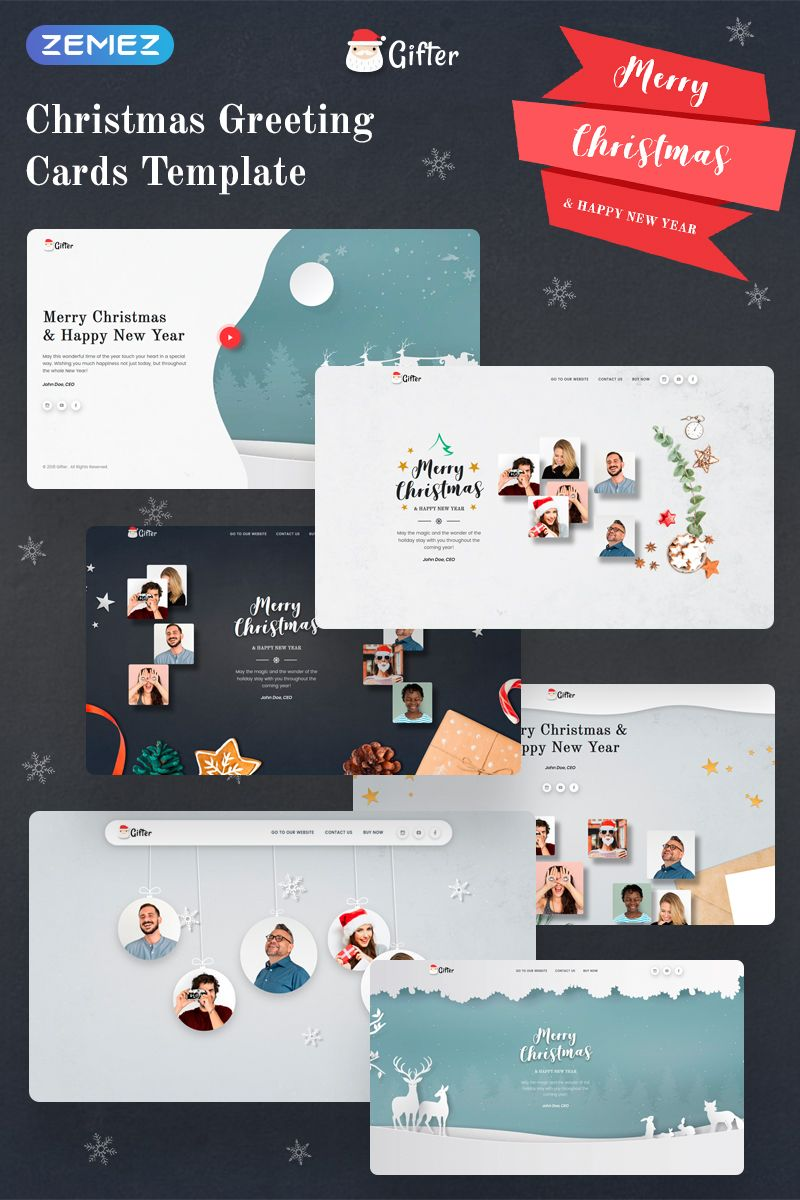 Gifter Greeting Card Html Landing Page Template Greetingcards Html Landingpage Templat Halloween Templates Music Website Templates Christmas Card Template