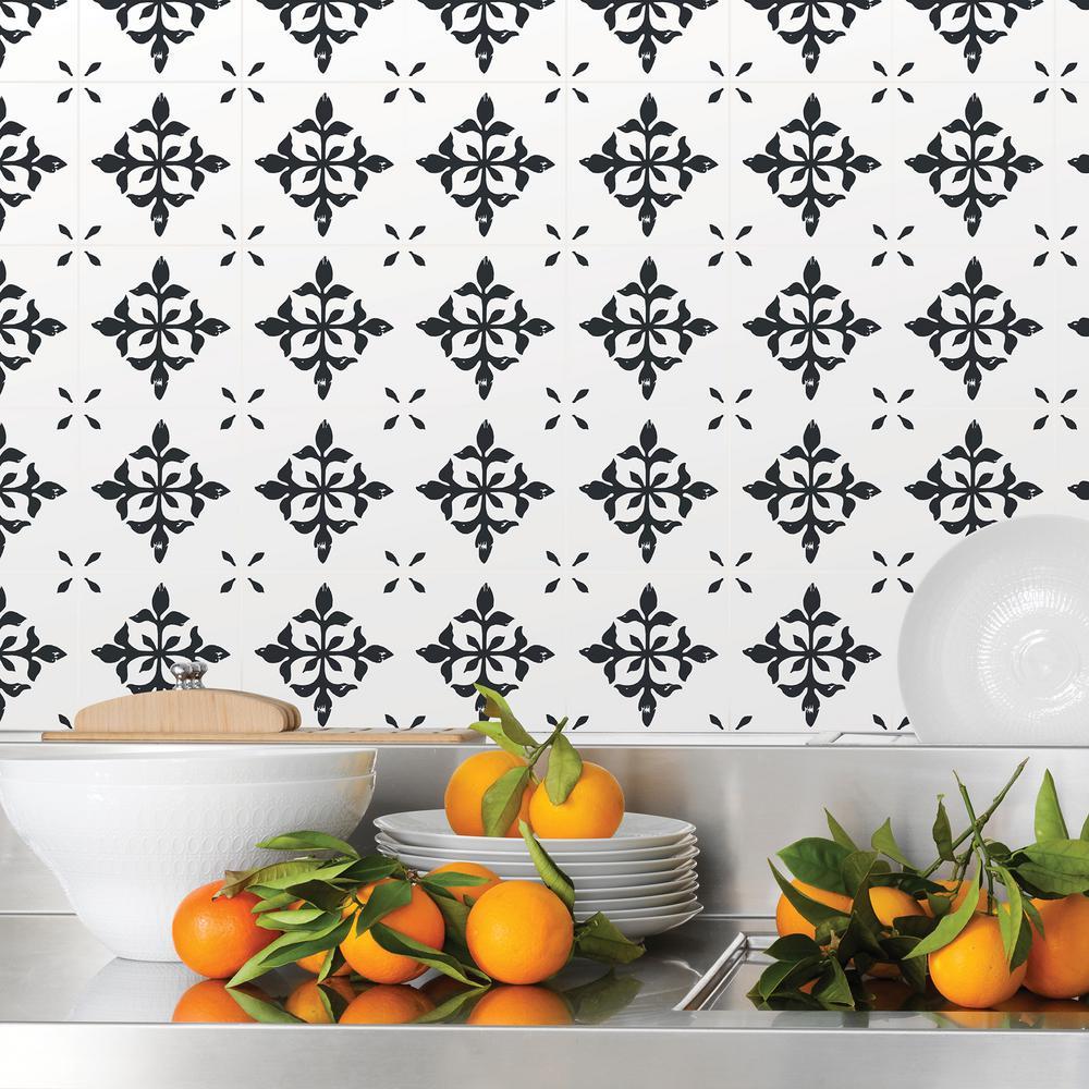 Wall Pops Ironwork Black Tile Decal Kit Dwpk2789 Tile Decals
