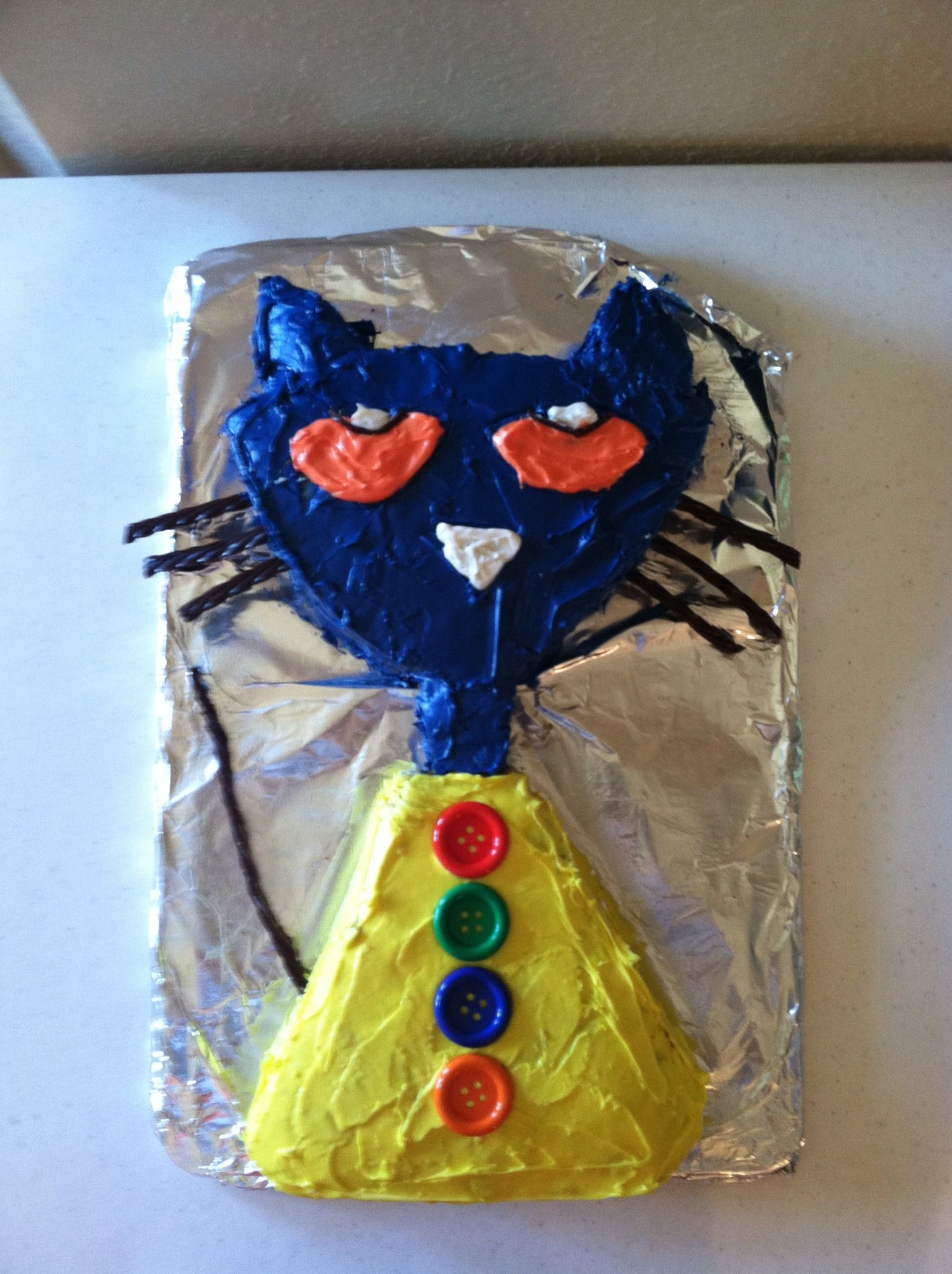 Pete The Cat Birthday Cake For My 3 Year Old