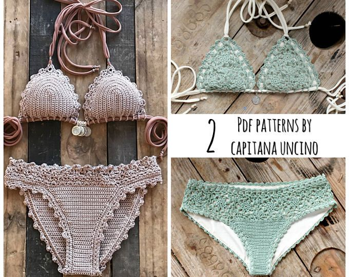 2 PDF, Crochet PATTERNS, Capheira Bikini Pattern with Charts and ...