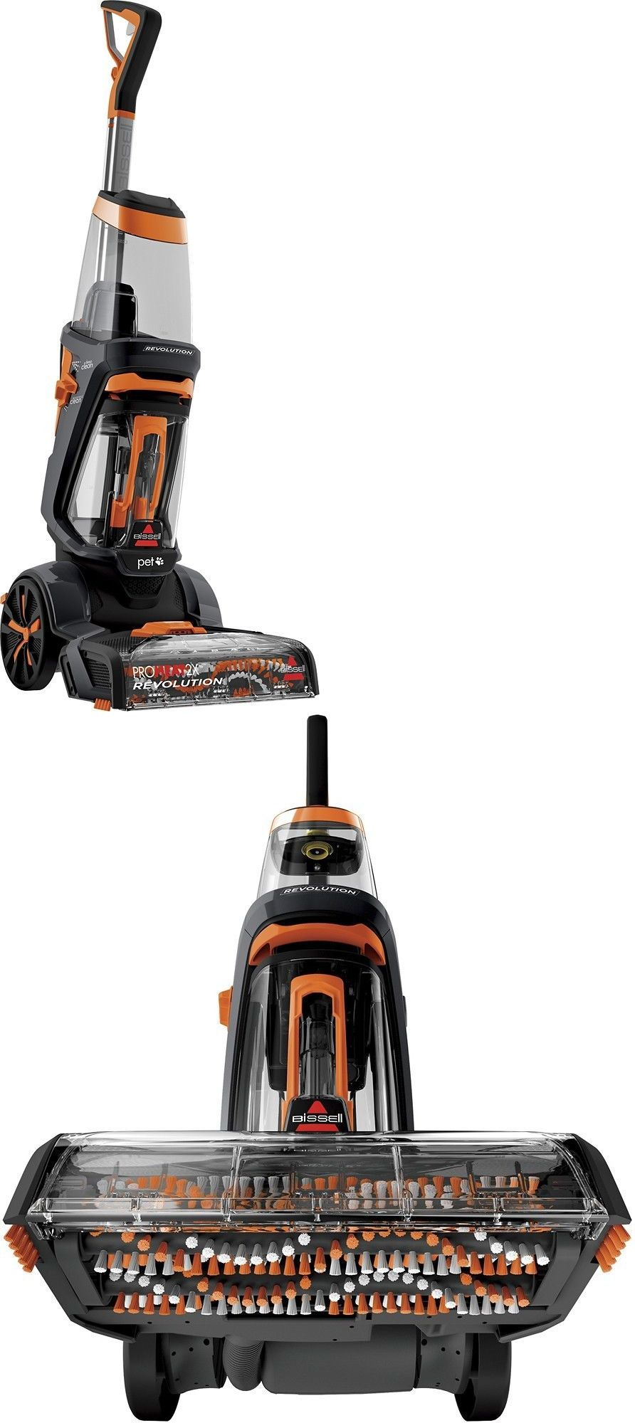 carpet shampooers bissell proheat 2x revolution pet carpet cleaner in titanium u003e buy