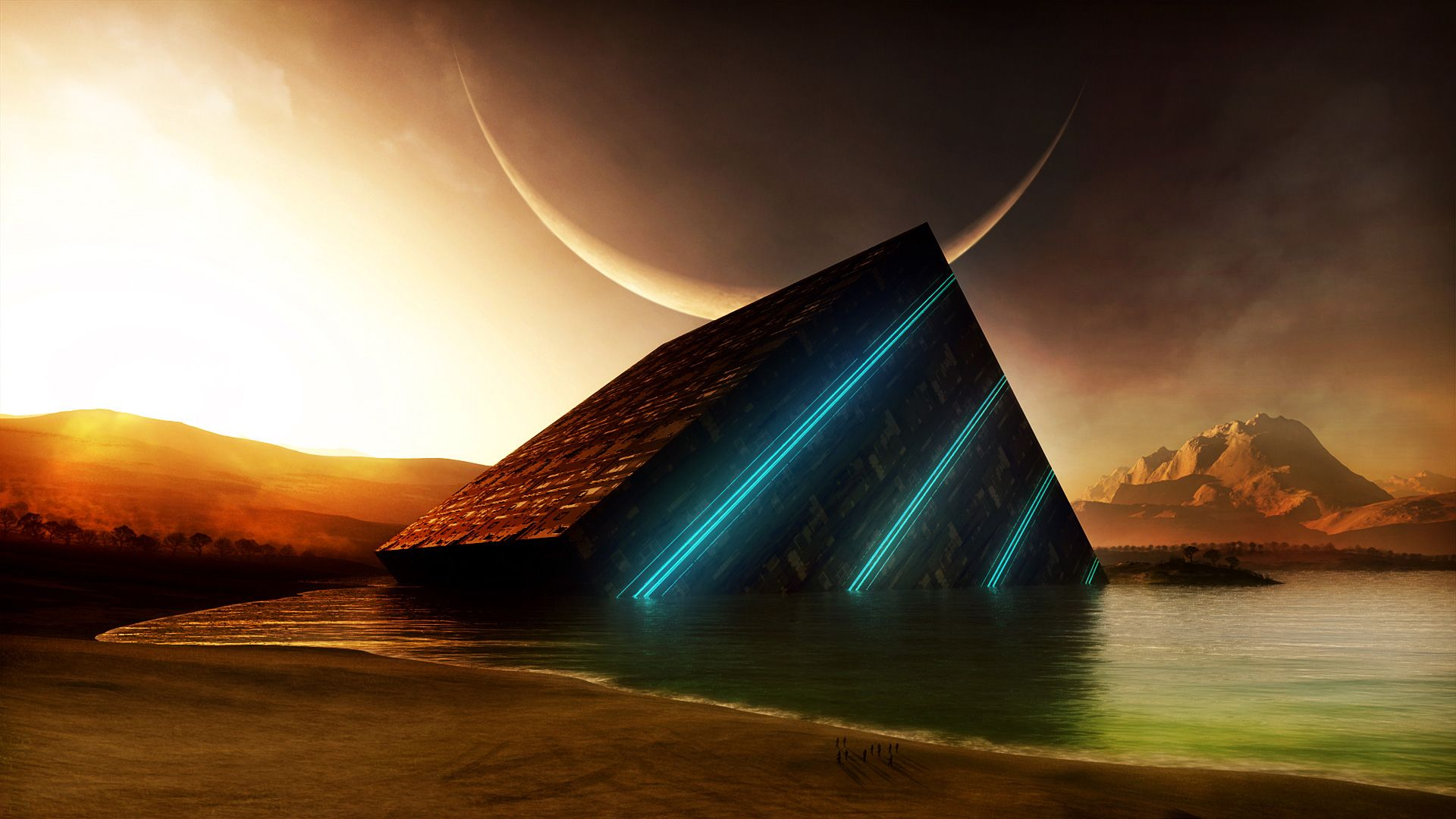 Sci Fi Desktop Backgrounds: Sci Fi Landscape Wallpaper Desktop Background #tdj