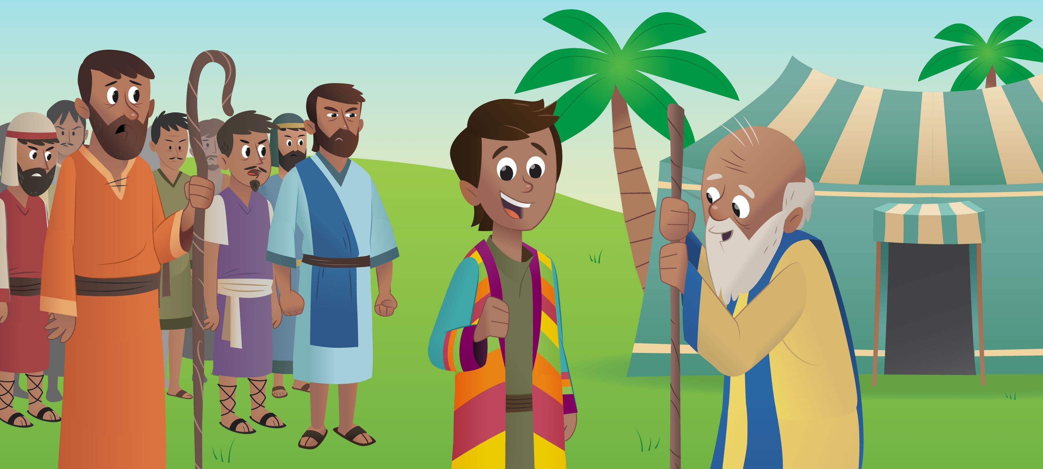 The Dreamer Bible App for Kids | Joseph-coat of many colors ...