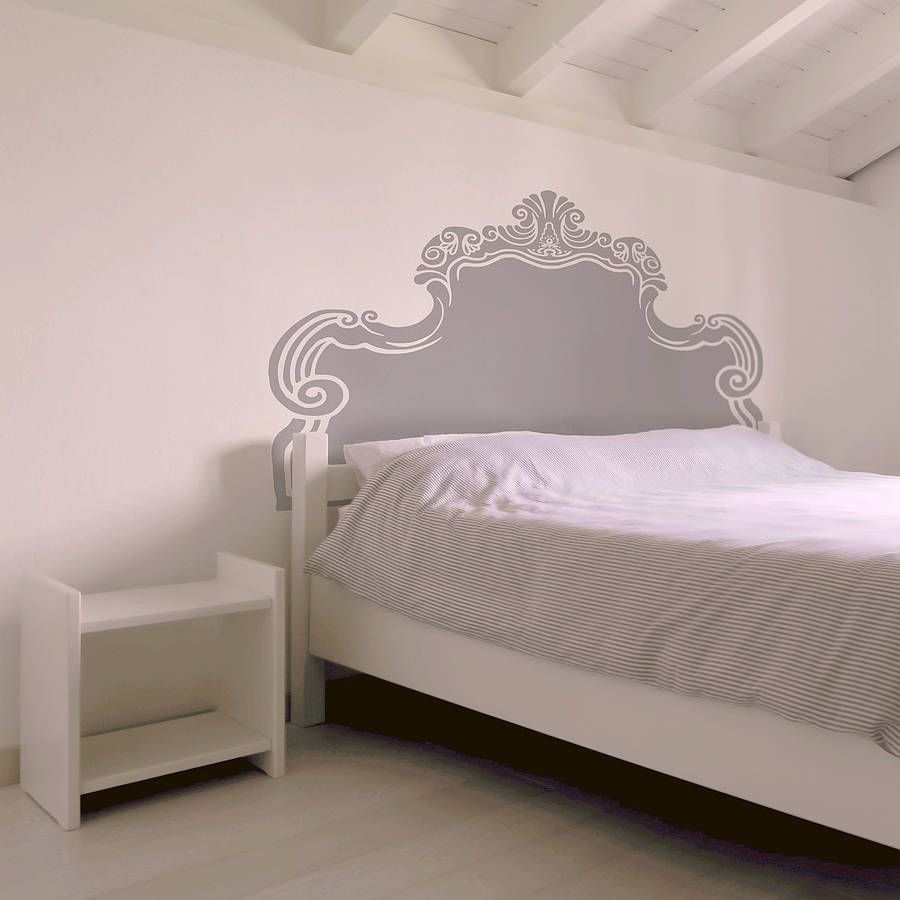 Vintage Bed Headboard Wall Sticker