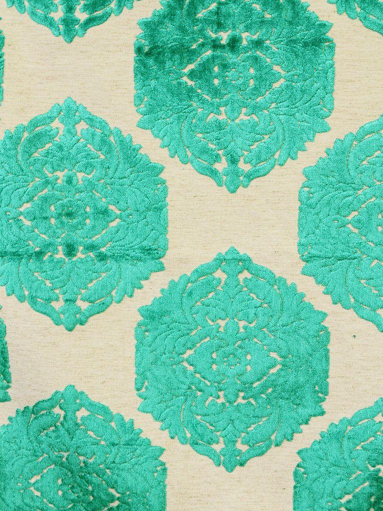 Vj1006 emerald Damask, Fabric, Decorative pillows
