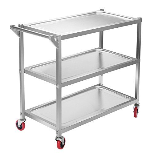 Happybuy Utility Cart 3 Shelf Utility Cart On Wheels 330l Https Www Amazon Com Dp B01m0uk6az Ref Cm Sw R Pi Dp X O T Utility Cart Furniture Layout Kitchen Stainless steel cart on wheels