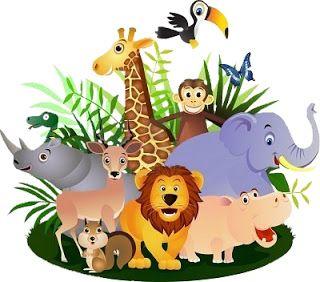 Safari Animais- Kit Completo com molduras para convites, rótulos para guloseimas, lembrancinhas e imagens!  Fazendo a Nossa Festa