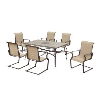 Hampton Bay Belleville 7 Piece Patio Dining Set FCS80198ST   The Home Depot  $500