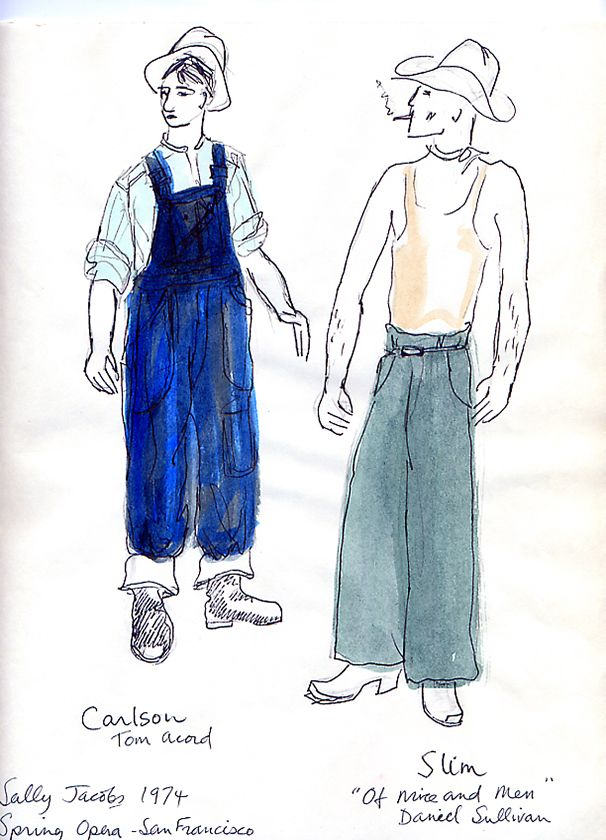 Of Mice And Men Chorus Opera Australia Costume Design By John