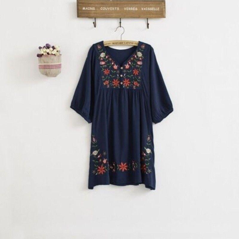 Gender  Women Waistline  Natural Decoration  Embroidery Sleeve Style   Lantern Sleeve Pattern Type e68bfdbf3015