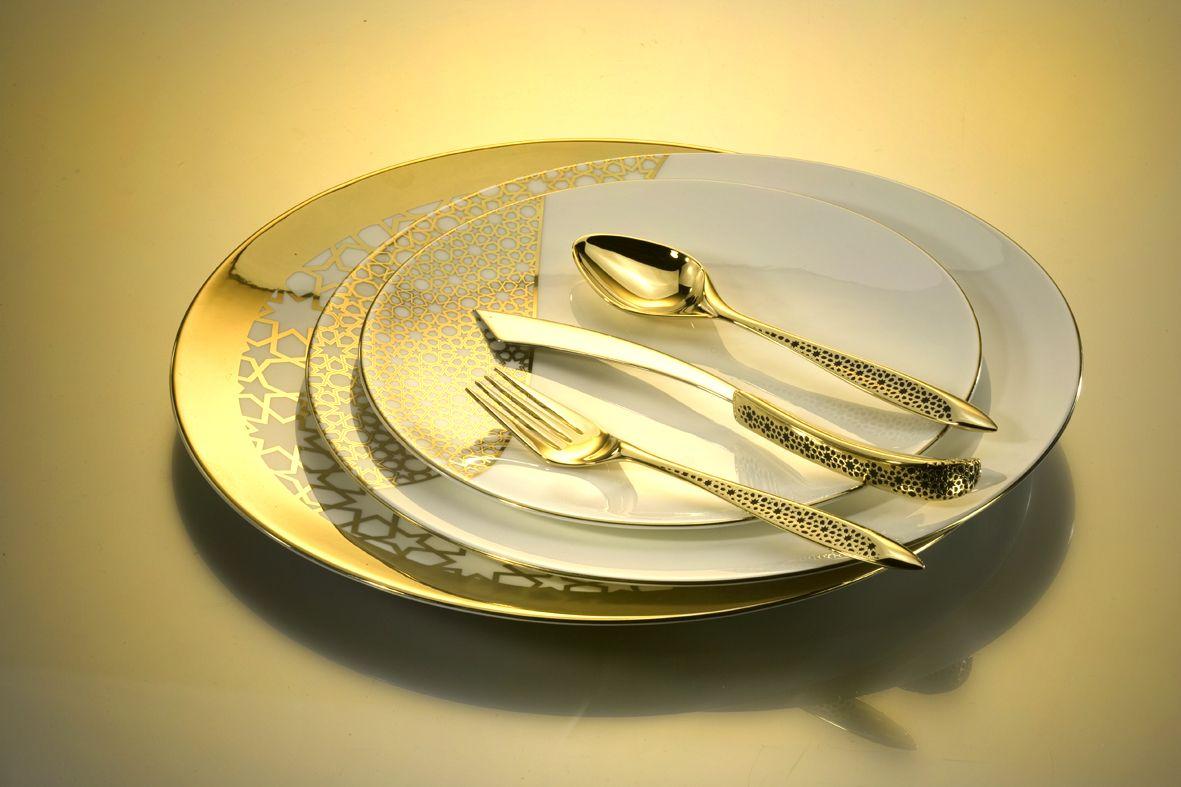 Luxury Handmade Designer Dinnerware Sets Collection Fine Design Bone Luxury Tableware Tableware Design Modern Dinnerware