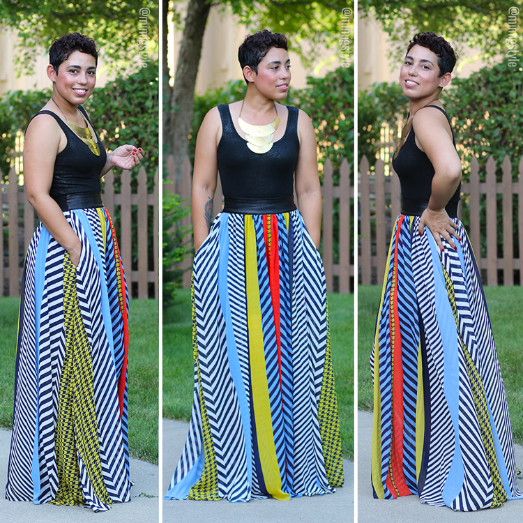 Striped Maxi Skirt   Tank - Mimi G Style | My DIY & Fashion Looks ...