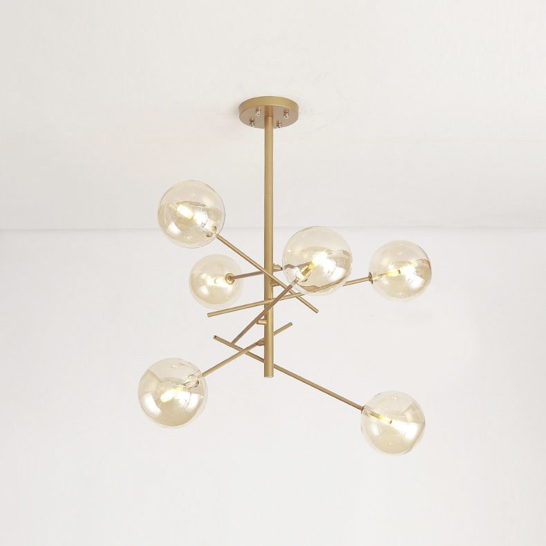 Modern Style 6 Light Ink And Ivy Cyrus Mobile Chandelier With