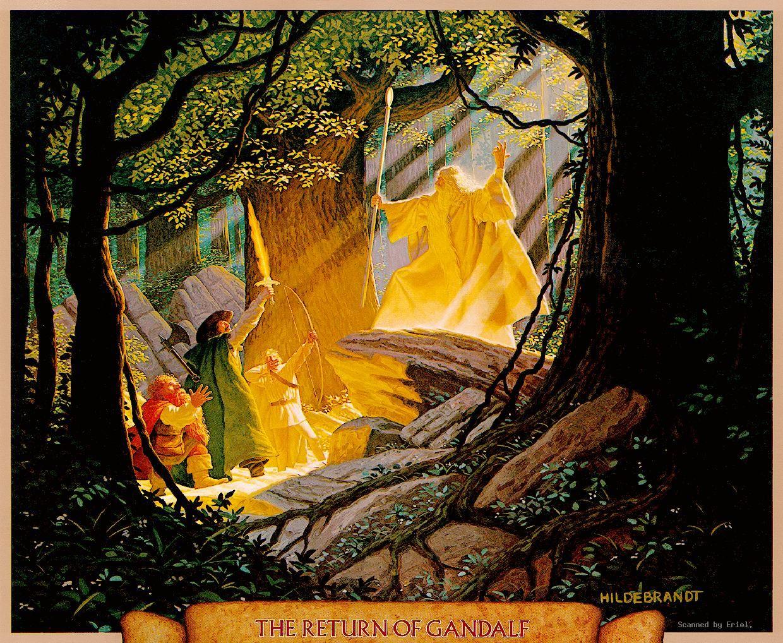 Aragorn Gandalf Gimli Greg Hildebrandt Legolas wallpaper
