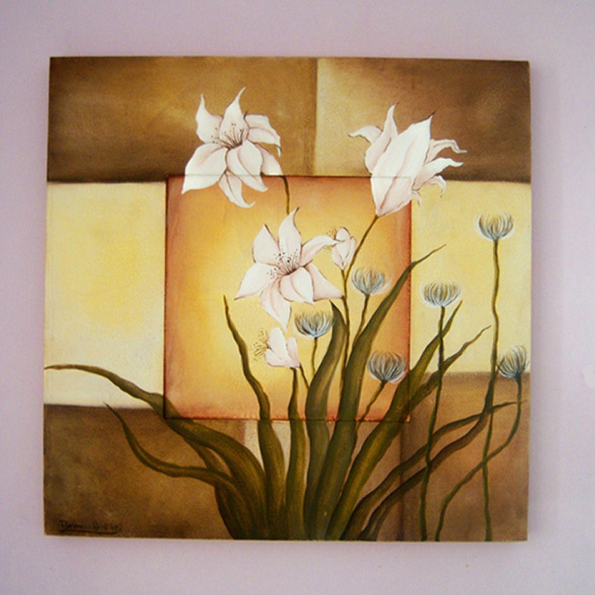 pintura acrilico flores cuadros los realic en el taller de raquel virtuani y con pintura
