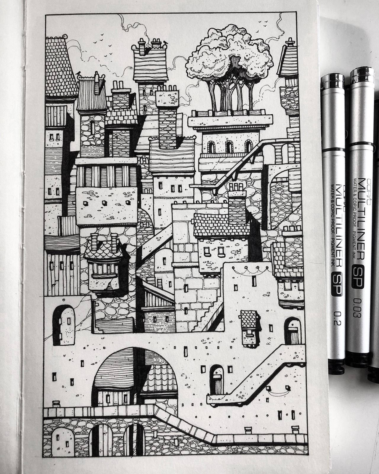 Sketchbook Cityscape.