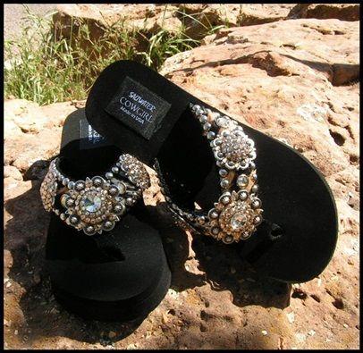 c56b3177f594 Cowgirl Jewelry and Custom Flip Flops
