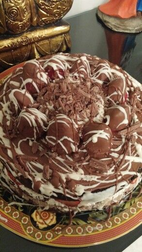 Chocolat Cake and strawberrys