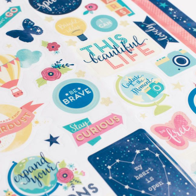 Larger Sticker Sheet Starshine Scrapbooking Collection From
