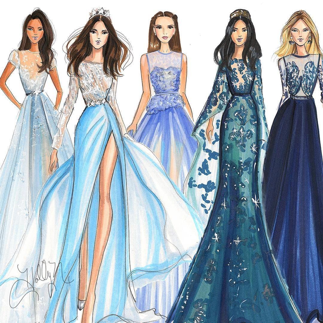 #fashionillustration #fashionsketch #fashionillustrator #illustration #copicart #couture #bostonblogger #bostonillustrator #eliesaabcouture #zuhairmurad (at snapchat  HNillustration)