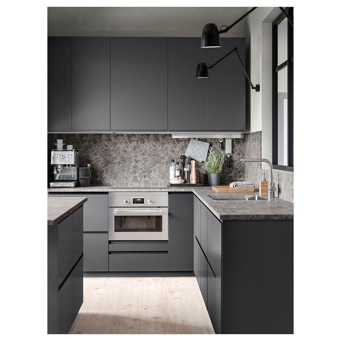 Best Ikea Ekbacken Dark Gray Marble Effect Laminate Marble 640 x 480