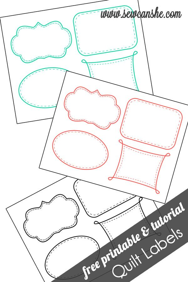 picture relating to Printable Quilt Labels called Quilt Labels! cost-free printable Paper Crafts Printables