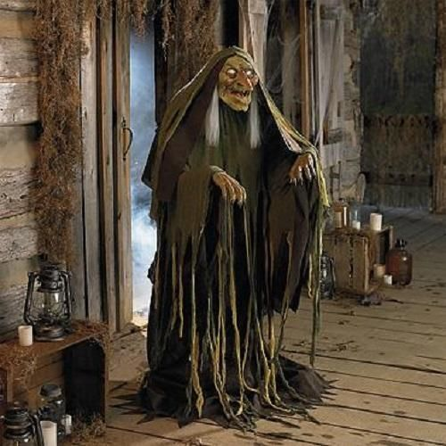 HALLOWEEN LIFE SIZE ANIMATED RISING SWAMP WOMAN WITCH PROP HAUNTED HOUSE DECOR
