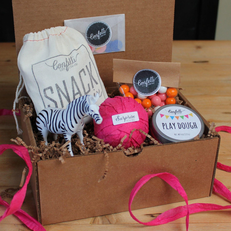 Zebra Surprise Ball Birthday Box