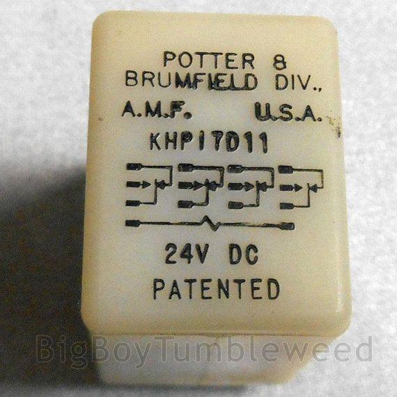 Vintage Potter Brumfield 24v Dc Khpi7d11 Amf Relay