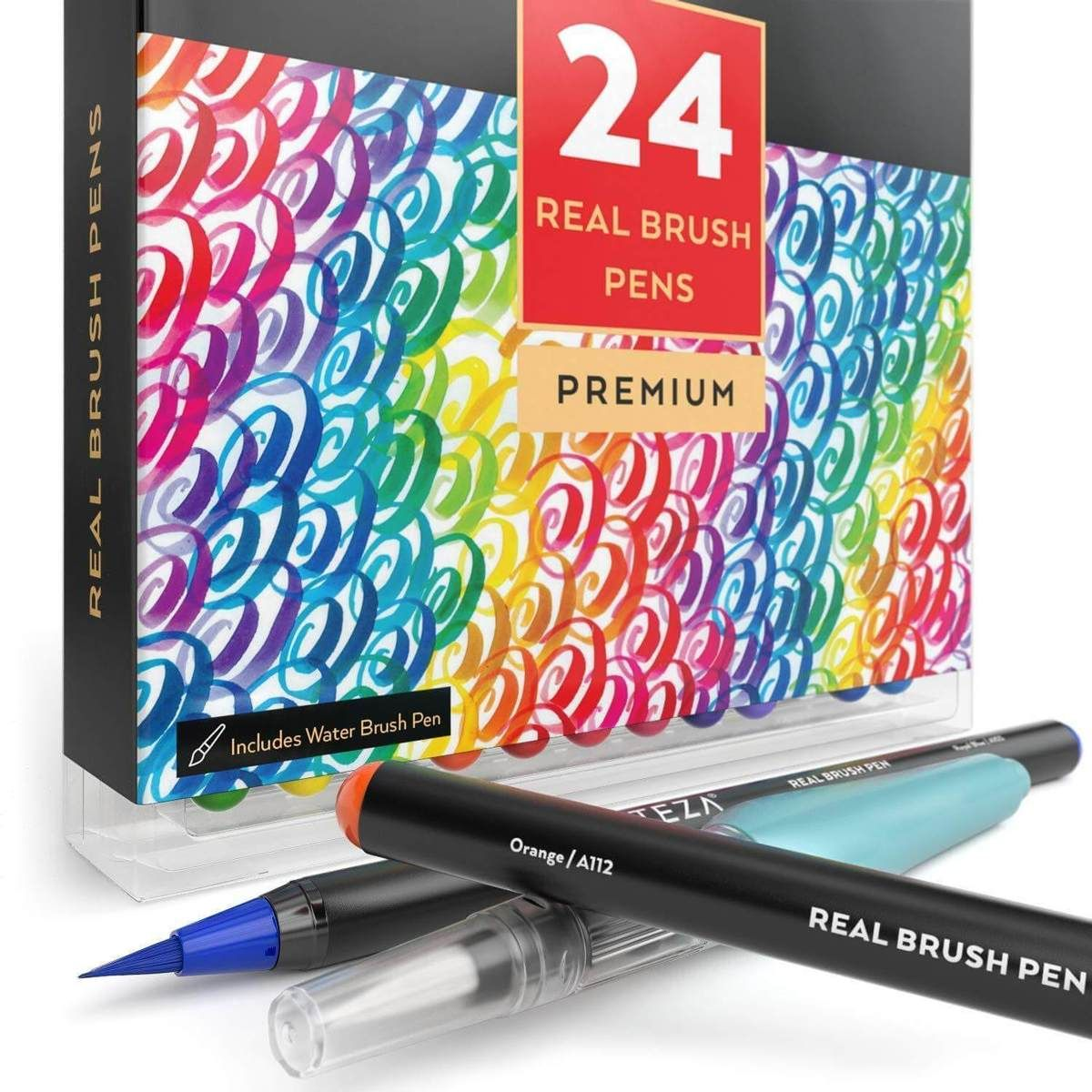 Real Brush Pens Set Of 24 Brush Pen Pen Watercolor Water