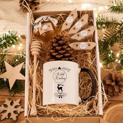 Prezent Swiateczny Kubek Miod Krowki Zimowy Wieczor Z Imieniem Creative Christmas Crafts Gift Wrapping Creative Christmas
