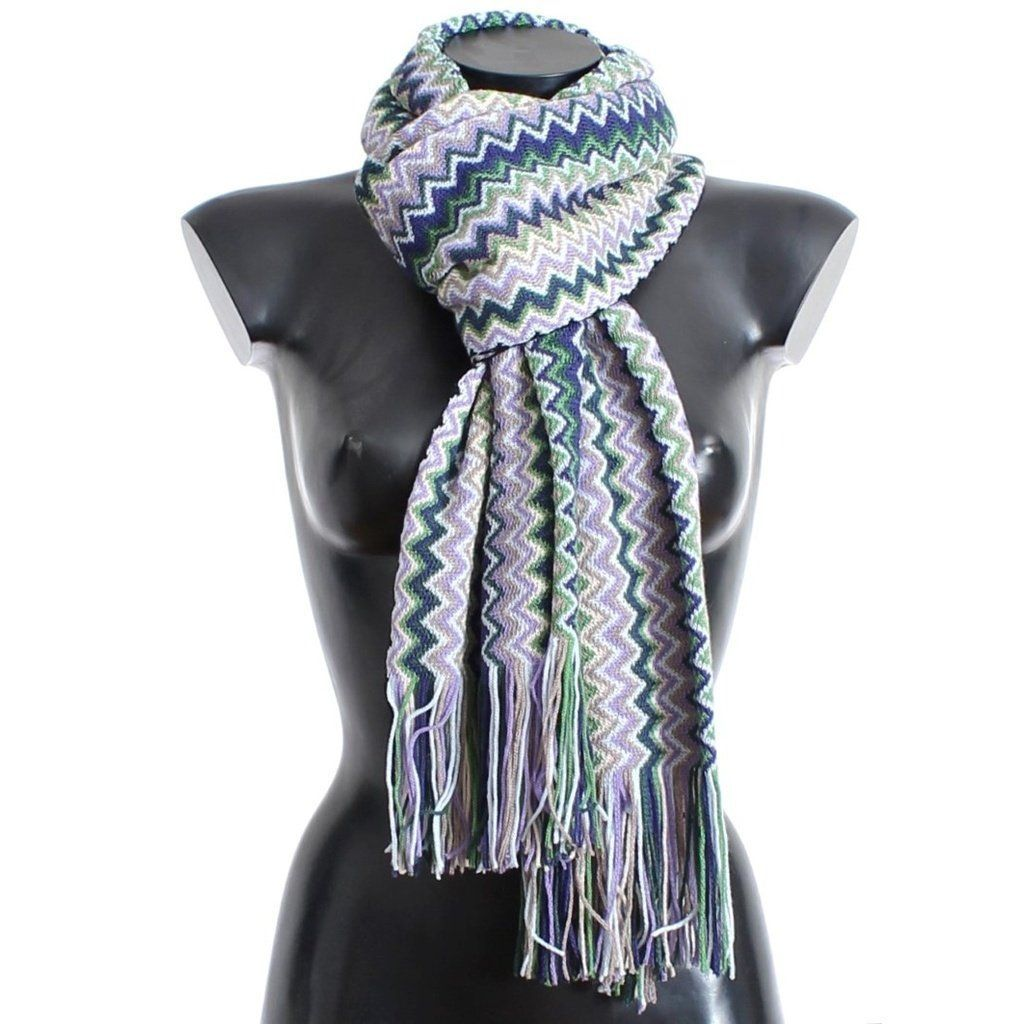 zig-zag patterned scarf - Multicolour Missoni ltyvCAnw3c