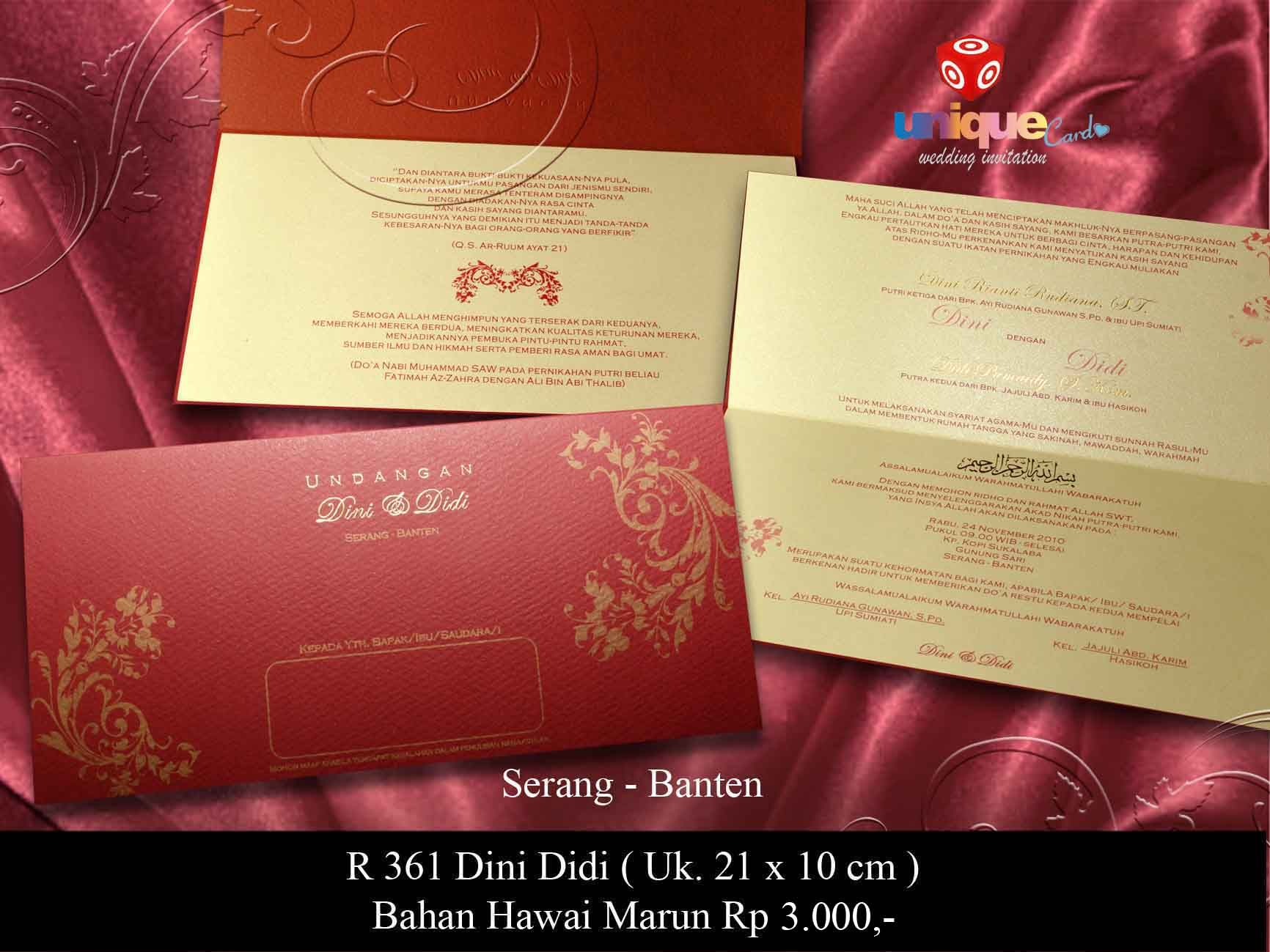 Let\'s see more unique wedding invitation from uniquecard.co.id ...
