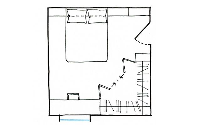Progetto cabina armadio ad angolo se ti serve una zona - Progetto cabina armadio ...