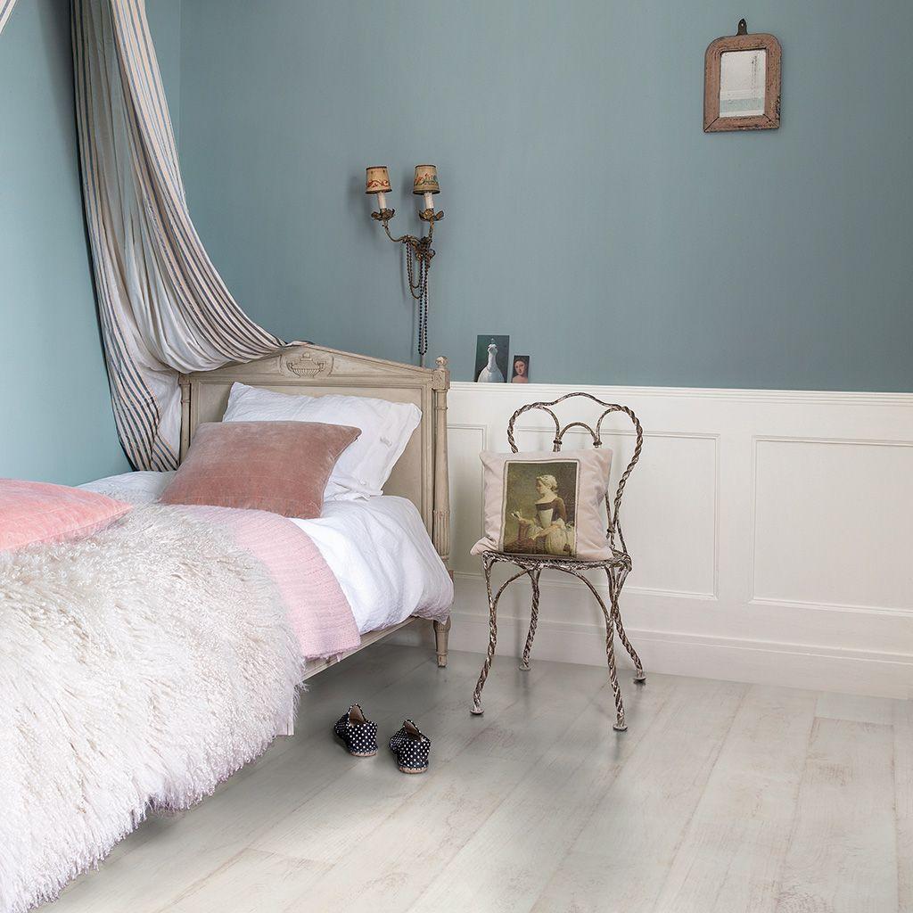 CLM1290 Bleached white teak White laminate flooring