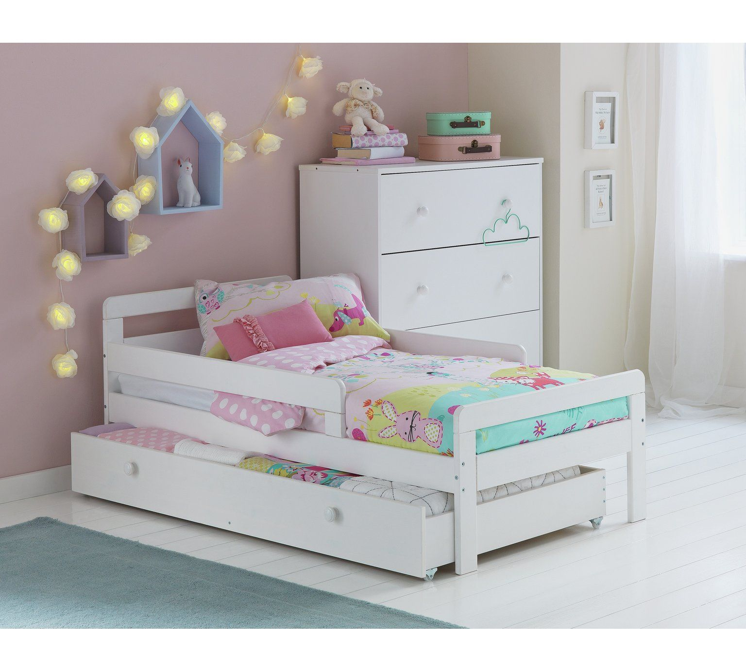 Buy Argos Home Ellis Toddler Bed Frame with Storage - White | Kids
