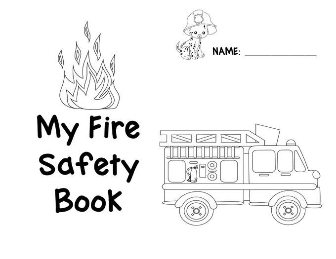 Preschool Fire Safety Booklet Printables | Fire prevention ...