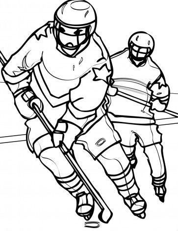 Ran Carrying Hockey Hockey Pinterest Hockey - new coloring page of a hockey player