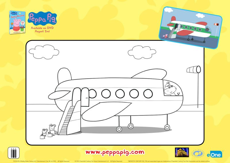 Peppa Pig Airplane Coloring Page Printable Coloring Pages Crafts